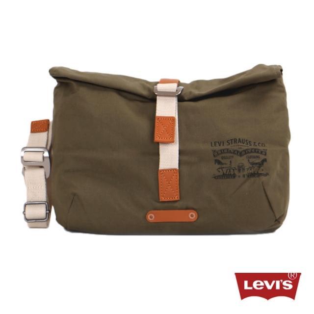 【Levis】男款率性多功能橄欖綠素面腰包售完不補