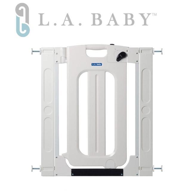 【美國 L.A. Baby】雙向自動上鎖安全門欄/圍欄/柵欄(贈兩片延伸件)