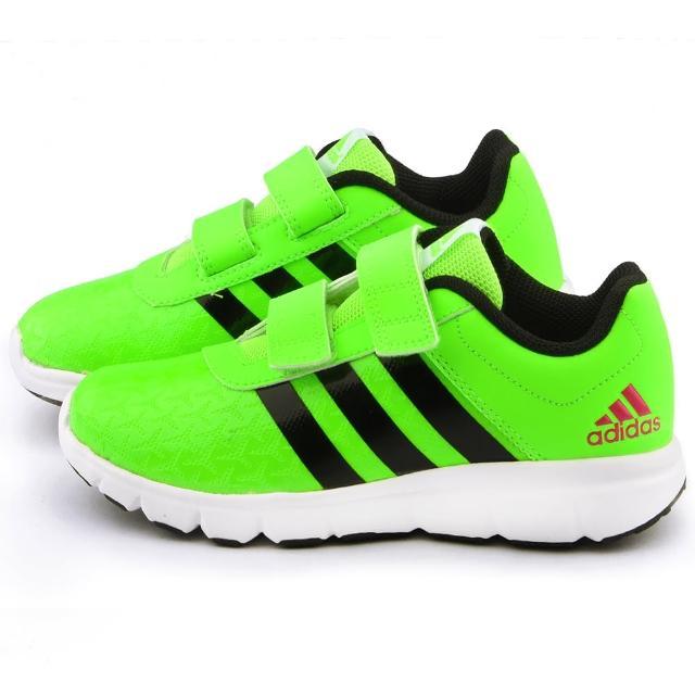 【Adidas】中大童 輕量透氣運動鞋(AF4373-綠黑)