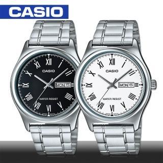 【CASIO 卡西歐】送禮首選-羅馬文字簡約時尚男錶(MTP-V006D)