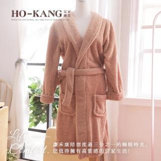 【HO KANG】飯店專用睡浴袍(灰-L)
