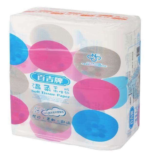 【百吉牌】溫柔平版衛生紙300張*6包/串/