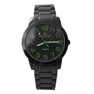 【范倫鐵諾˙古柏】獨特逆走機芯跳色數字全黑手錶
