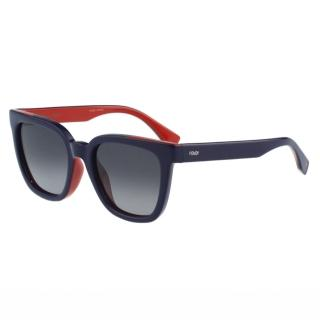 【FENDI】- 時尚太陽眼鏡(藍色)