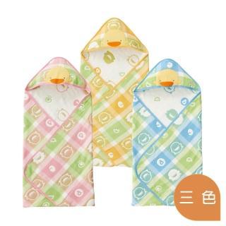 【Piyo Piyo 黃色小鴨】六層立體紗包巾(六層紗)