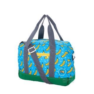 【MOKUYOBI】L.A 空運繽紛香蕉塗鴉旅行必備多功能旅行手提斜肩包-藍色(Greyson Tote)