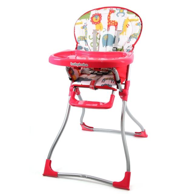 【BabyBabe】兒童高腳餐椅(紅色)便宜賣