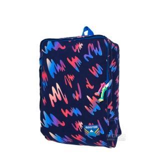 【MOKUYOBI】L.A空運繽紛隨性圖鴉風格印花旅行必備多功能筆電後背包-深藍色(Tucson Bag)