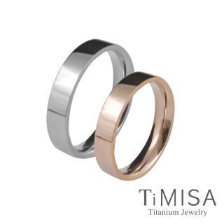 【TiMISA】簡約時尚-細版 純鈦對戒(雙色可選)