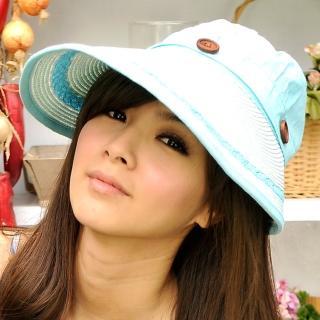 【Lady c.c.】率性佳人牛仔遮陽帽(淺藍)