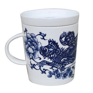 【青花皇后楊莉莉】生肖杯-猴(輩輩封侯)