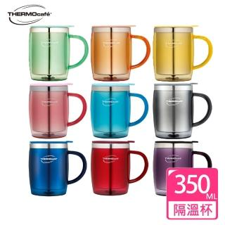 【THERMOcafe凱菲】不鏽鋼真空隔溫杯350ml(DOM-350SH)/