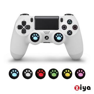 【ZIYA】SONY PS4 副廠 遙控手把3D按鈕帽蓋 喵星人(4入 顏色隨機)