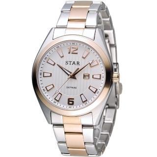 【STAR 時代】永恆時光紳士腕錶(9T1602-231RG-W)