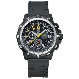 【瑞士LUMINOX雷明時】特殊偵察RECON藍寶水晶三眼鬧鈴腕錶