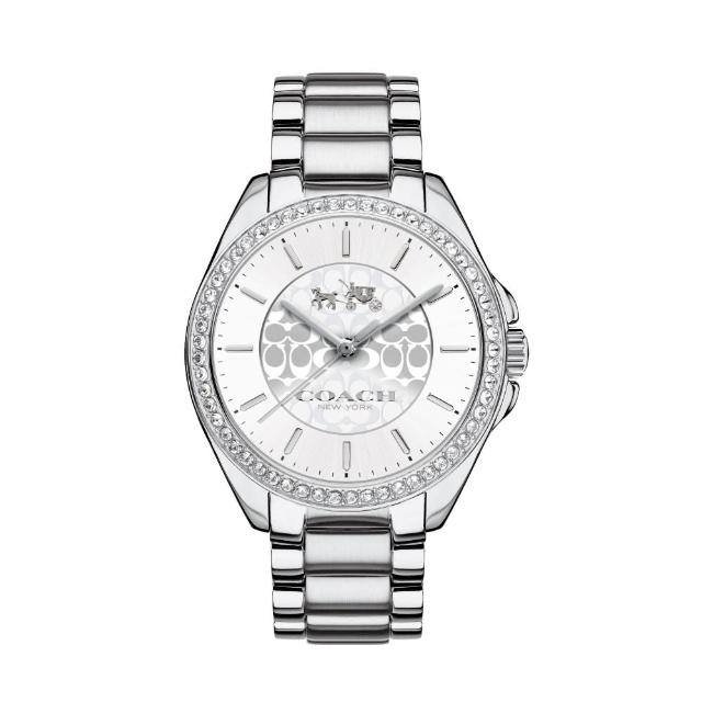 【COACH】優雅風采LOGO時尚腕錶(銀/14502469)
