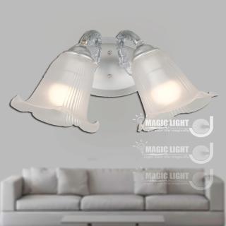 【光的魔法師 Magic Light】BT歐式鄉村百合雙壁燈 時尚銀 (安全燈具)
