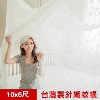 【凱蕾絲帝】100%台灣製造-大空間專用特大10尺通鋪針織蚊帳-開單門(米白)