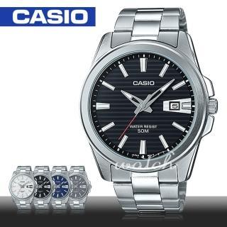 【CASIO 卡西歐】上班族首選_不鏽鋼指針型男錶(MTP-E127D)