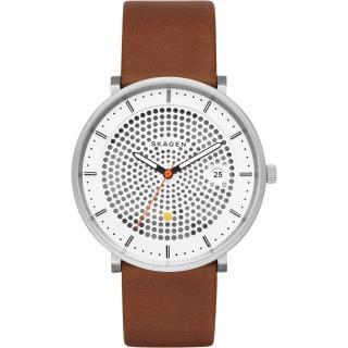 【SKAGEN】HALD 系列 solar 北歐風女錶-黑x白x咖啡/40mm(SKW6277)