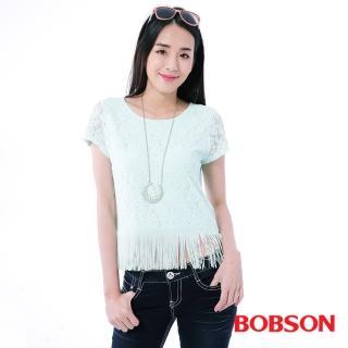 【BOBSON】女款蕾絲流蘇上衣(25154-48)