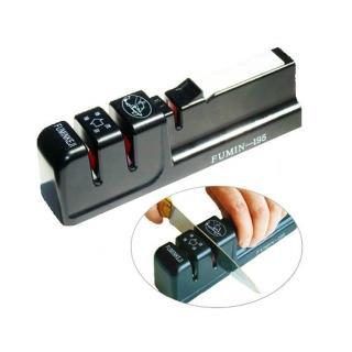 【PUSH!廚房用品】三槽式可粗磨和細磨的快速磨刀器(D40)