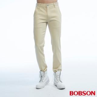 【BOBSON】男款低腰吸濕快乾色褲(米白1805-72)