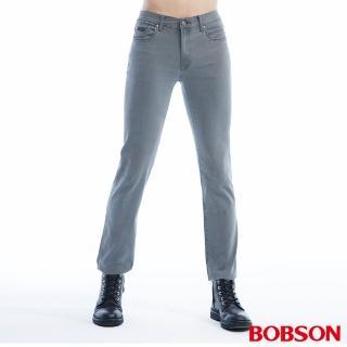 【BOBSON】男款低腰超彈力直筒褲(1811-87)