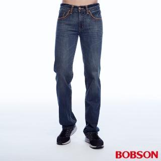 【BOBSON】男款低腰繡花直筒褲(1812-52)