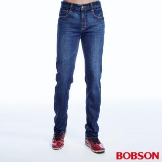 【BOBSON】男款低腰異素材直筒褲(1814-53)