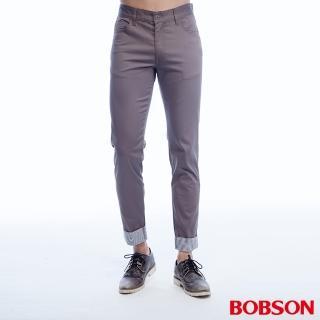 【BOBSON】男款褲口反摺九分褲(1786-85)