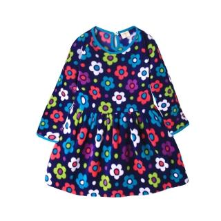【baby童衣】任選 大小童洋裝 細刷毛韓版小花短裙 50688(深藍底花朵)