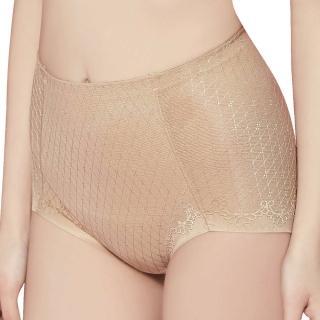 【思薇爾】舒曼曲現系列M-XXL高腰三角修飾褲(親膚色)
