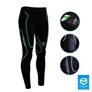 【CABALLERO】男款高彈力機能壓縮褲(炫綠)