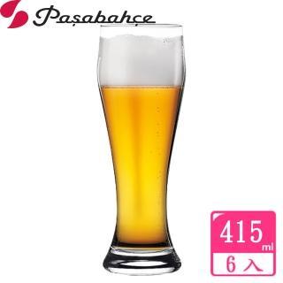 【土耳其Pasabahce】曲線啤酒杯415cc(六入組)