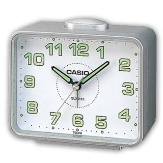 【CASIO】夜間實用桌上型鬧鐘(TQ-218-8)