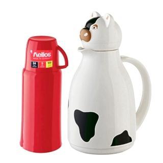 【德國 helios 海利歐斯】乳牛造型保溫壺1.0l(送保溫瓶750cc  隨機出貨)