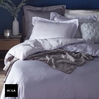 HOLA home雅緻天絲素色床包加大 淡紫色