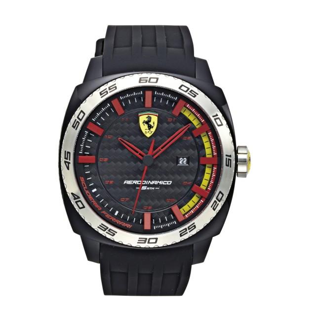 【FERRARI】狂速賽車大鏡面時尚腕錶(46mm/0830201)