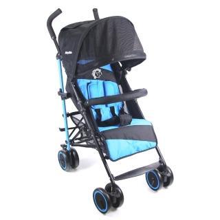 【BabyBabe】新款全罩式加寬平躺傘車(時尚藍)