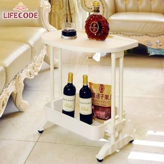 【LIFECODE】《悠活》二層可移動茶水桌(筆電桌/ 餐車)