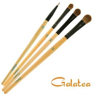 【Galatea葛拉蒂】彩顏系列-馬毛閃亮眼影刷4支組