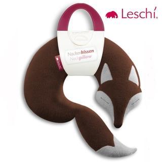 【德國萊思綺Leschi】旅行枕頭/辦公室/教室午休枕頭(狐狸造型 -棕色)