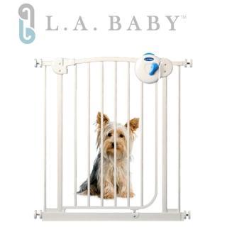美國 L.A. Baby 雙向自動上鎖安全鐵門欄(附贈2片延伸件)