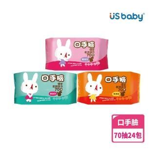 【US BABY 優生】口手臉柔潤濕巾70抽(24包)