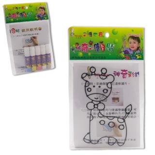 【愛玩色創意館】愛玩色 兒童無毒彩繪玻璃貼-隨身包 單包組 - 圖案可選(台灣製)