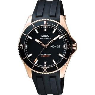 【MIDO】美度 Ocean Star 水鬼 Caliber 80 200m潛水機械腕錶-黑(M0264303705100)
