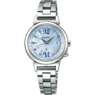 【SEIKO】精工 LUKIA 美好時光限量太陽能電波腕錶-藍/28mm(1B25-0AF0B  SSVV023J)