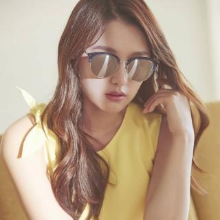 【PAUL HUEMAN 太陽眼鏡】韓風眉框水銀鏡面款眼鏡(藍#PHS1070A C08)
