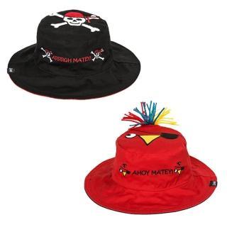 【Flapjack kids】雙面防曬漁夫帽(海盜/鸚鵡)
